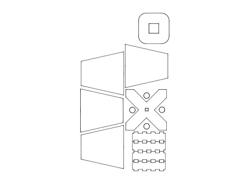 Abajur (lampshade) Template Free DXF File
