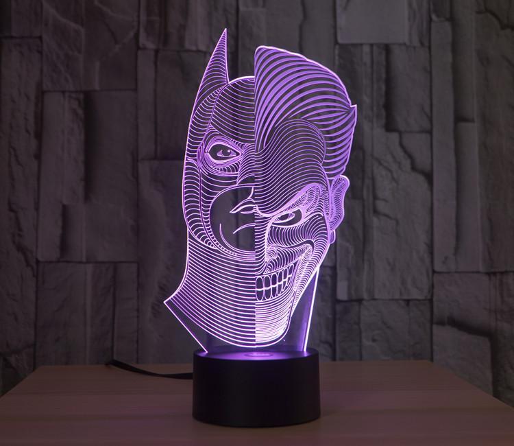 Batman Joker 3d Lamp Vector Model Template Free DXF File