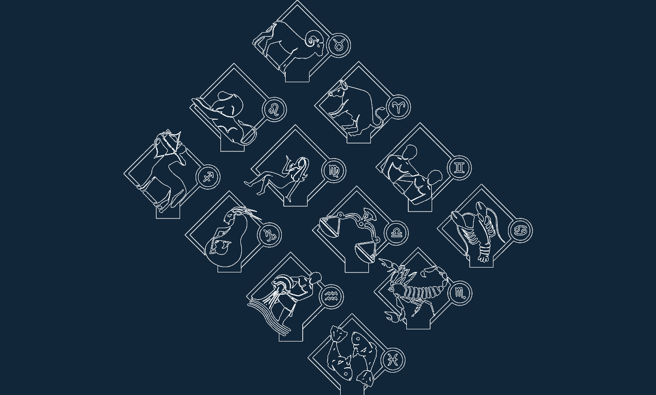 Horoscope buçlar 3d lamp Template Free DXF File