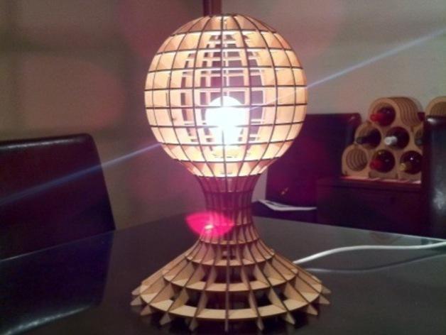Lamp Laser Cut Template Design Free DXF File