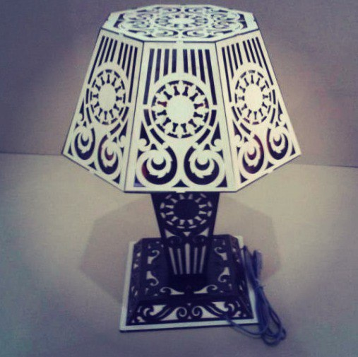 Lamp Template Free DXF File