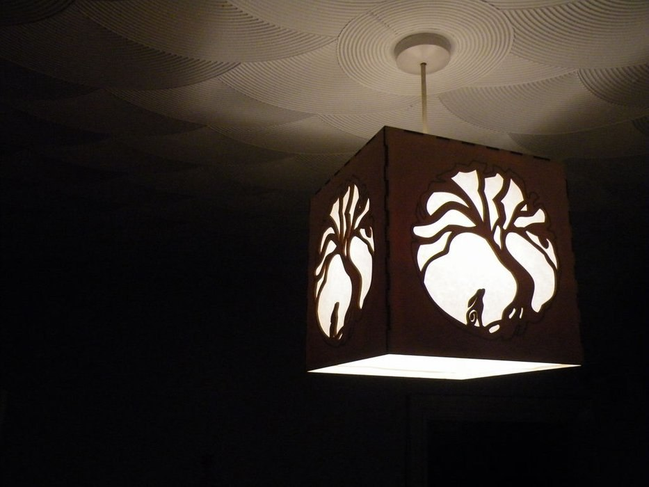 Moon Hare Night Light Lamp Template Free DXF File