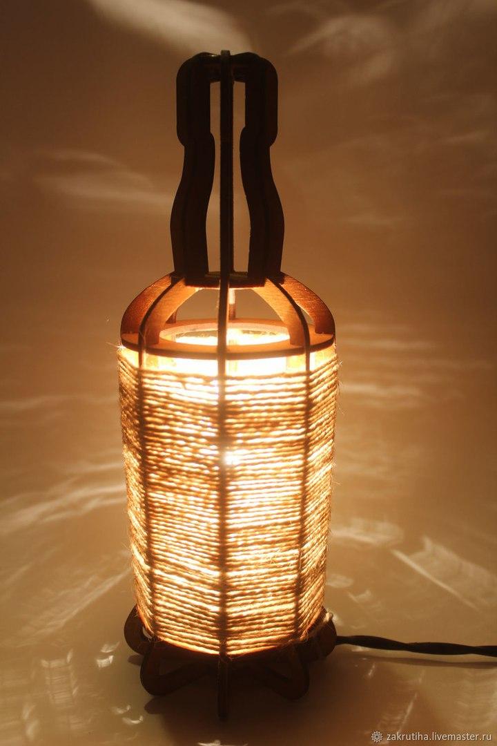 Tabletop Night Light Lantern Plywood Laser Cut 3mm Template Free DXF File