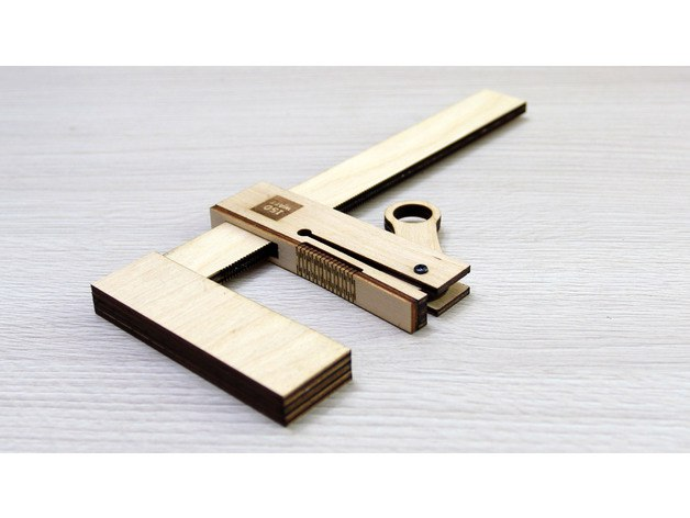 Wooden Bar Clamp Template Free DXF File