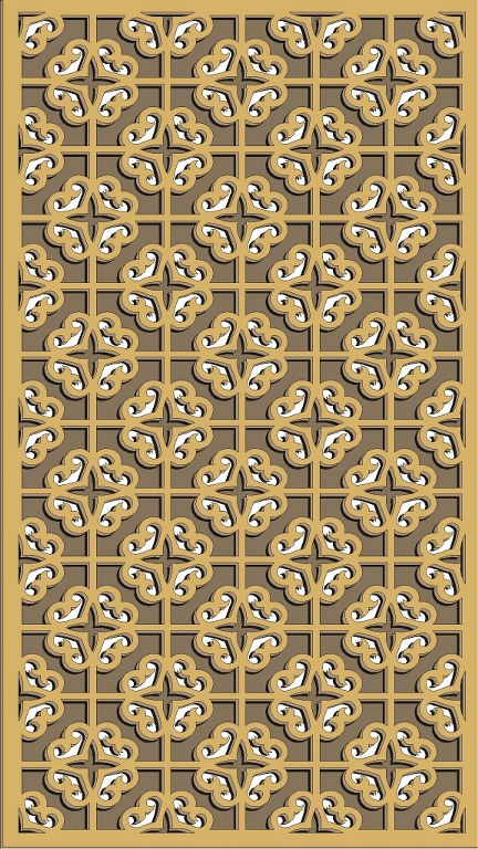 Window Grill Pattern For Laser Cutting 60 Free CDR Vectors Art