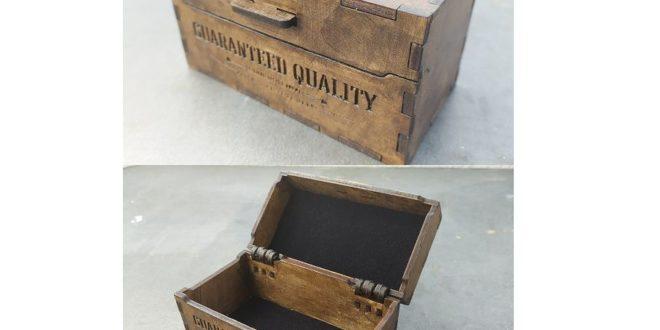 Wood Box 68x128x68 Cut Free DXF File