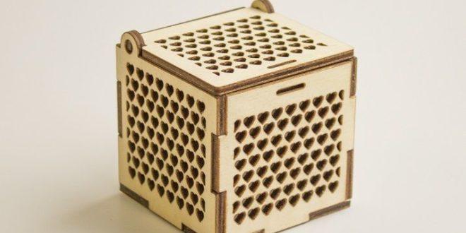 Wood Cnc Cut Jewelry Box Free DXF File