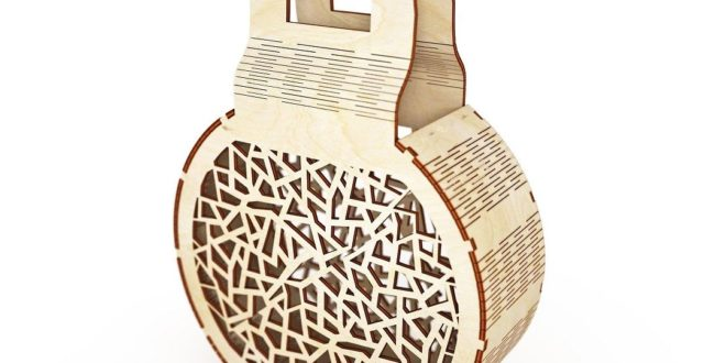 Wood Laser Cut Bag Folding Pouch For Wood Cutting Free DXF File