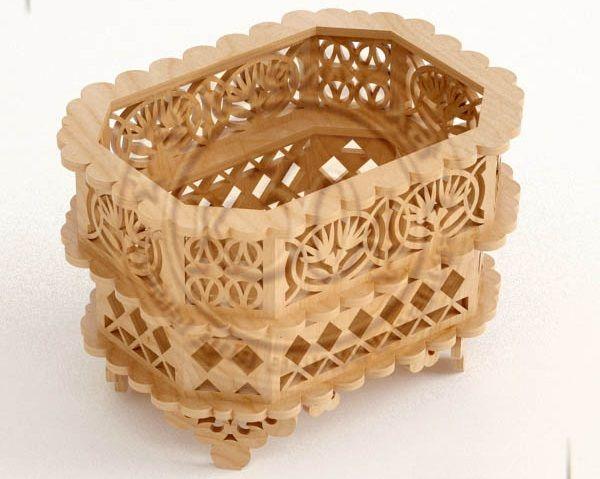 Wooden Decorative Storage Basket Free DXF File