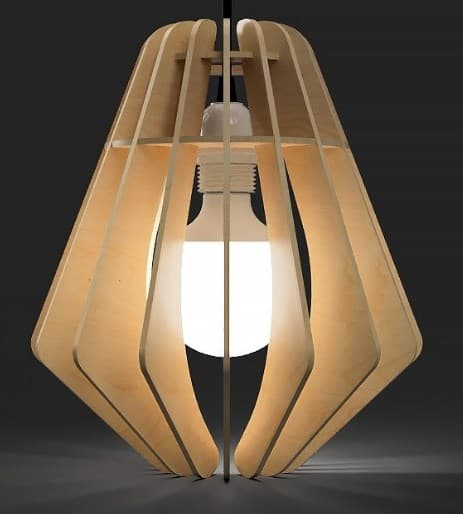 Wooden Lamp Laser Cutting Projects Free DXF File