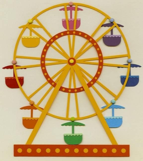 3d Puzzle Ferris Wheel Free DXF File