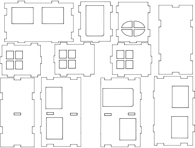 Dom 3d Puzzle Free DXF File