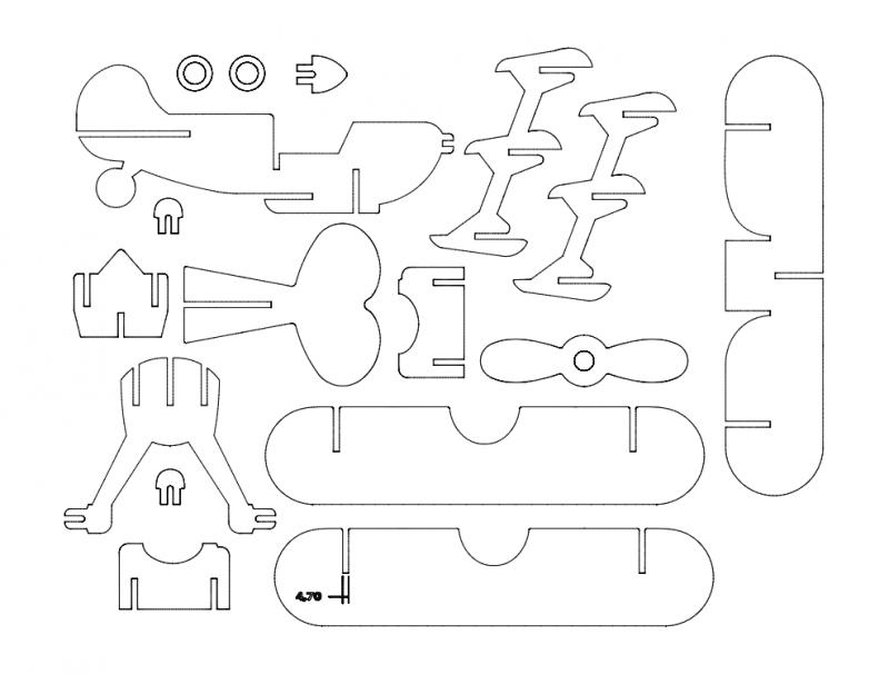 Dreildecker 47 3d Puzzle Free DXF File