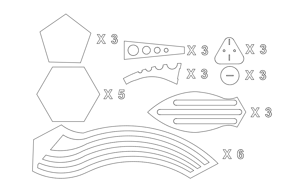 Eggpit Share 3d Puzzle Free DXF File