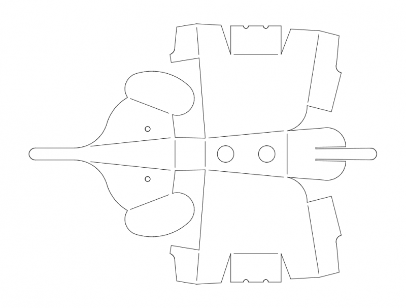 Elefant 3d Puzzle Free DXF File