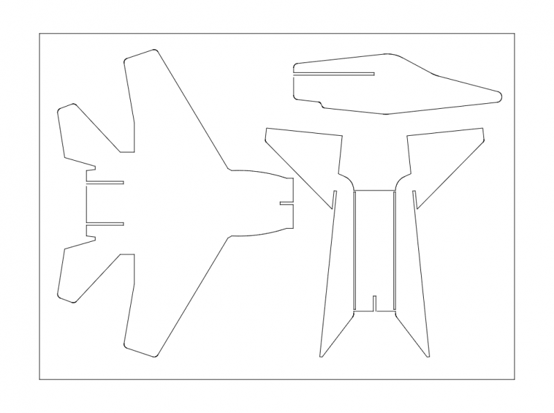 f15 3d Puzzle Free DXF File