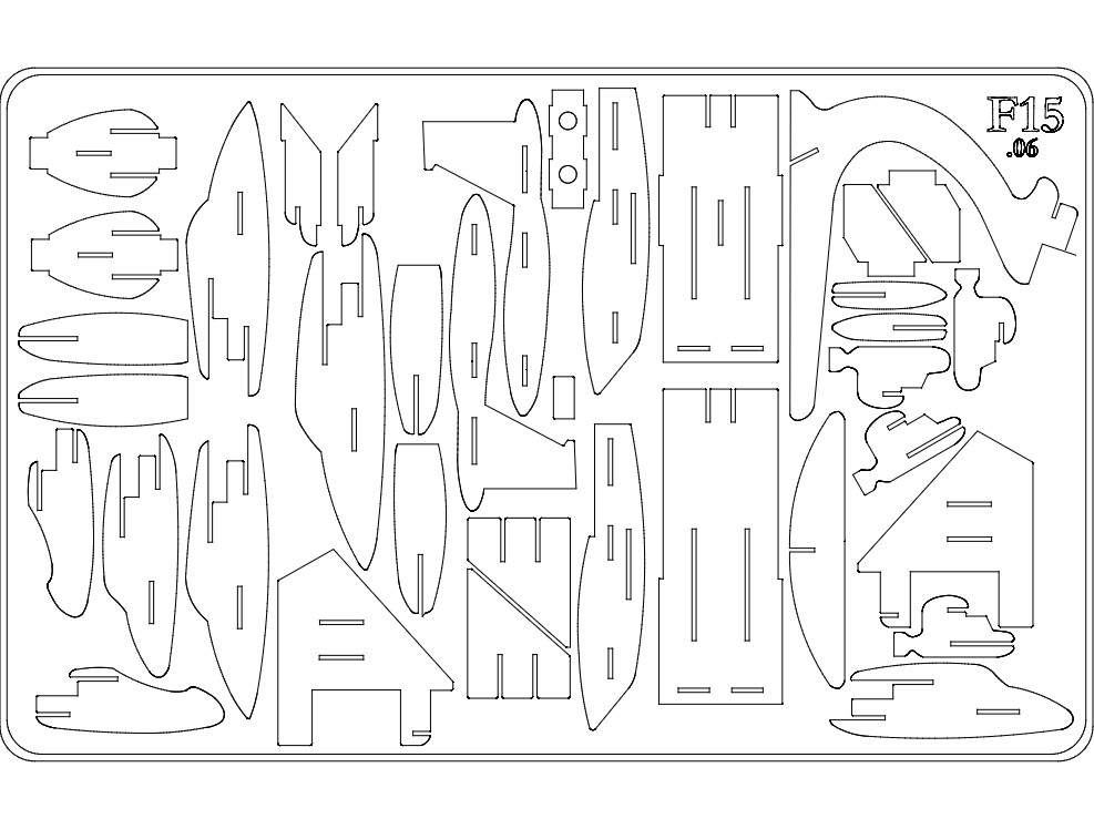 f15s 3d Puzzle Free DXF File