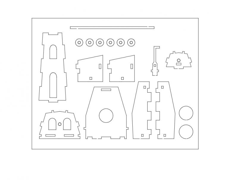 Muehle 3d Puzzle Free DXF File