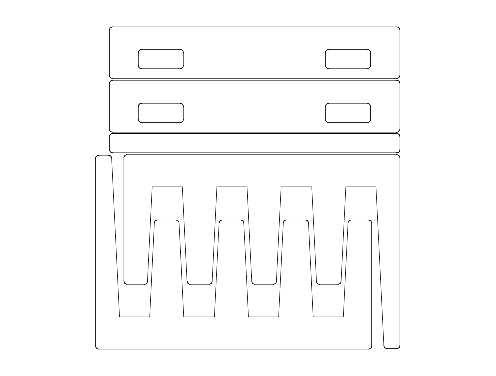 Sheet Rack 3d Puzzle Free DXF File
