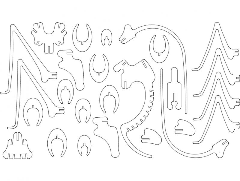 swierszcz-3mm 3d Puzzle Free DXF File