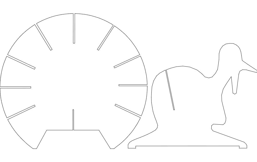 Turkey b2 Pc 3d Puzzle Free DXF File
