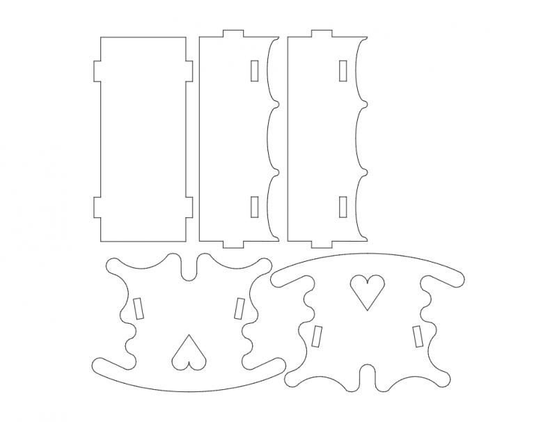 Wiege 3d Puzzle Free DXF File