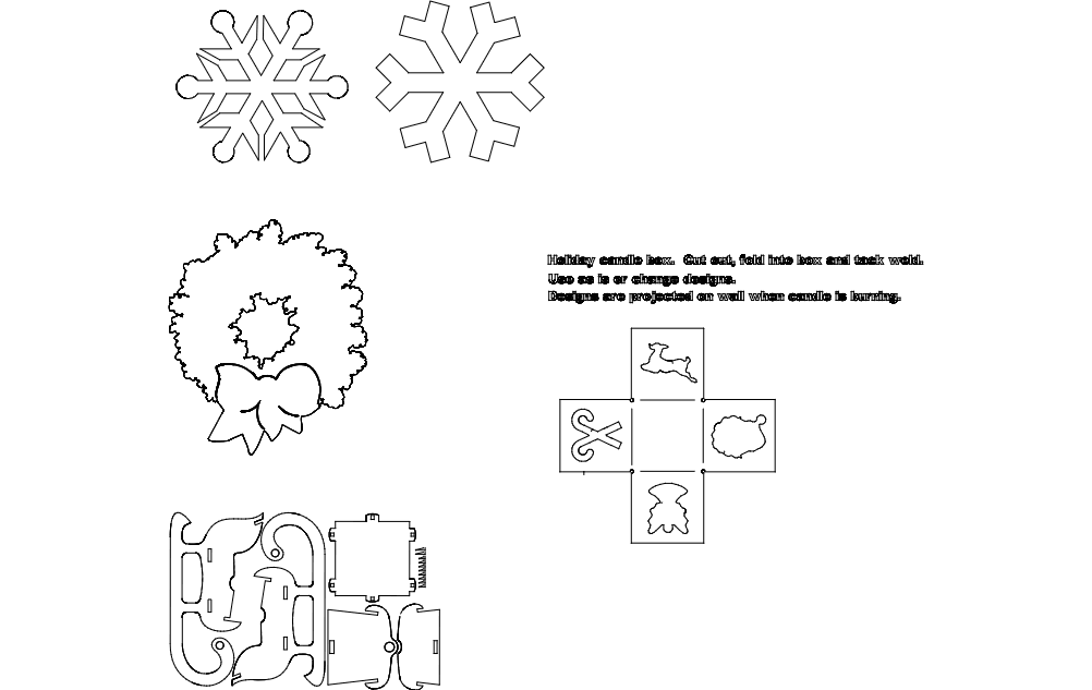 Winter Things 3d Puzzle Free DXF File