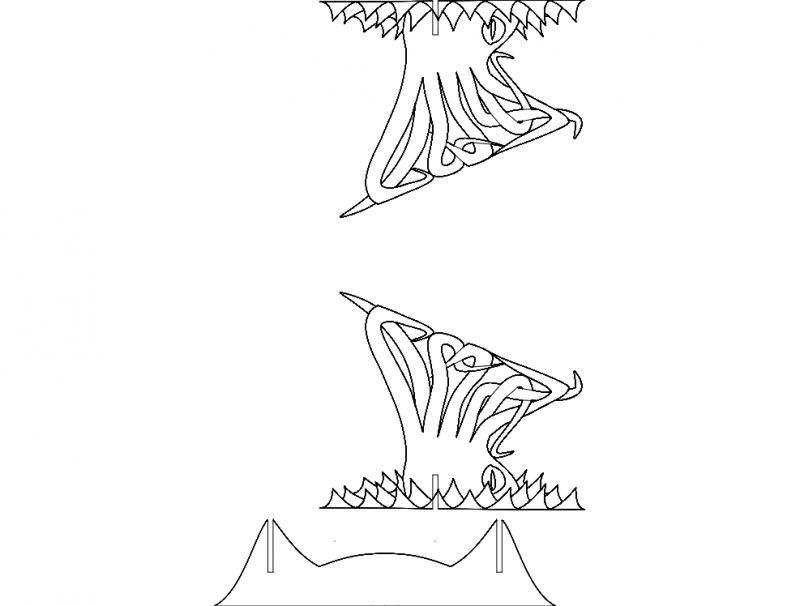 Kraken 3d Puzzle Free DXF File