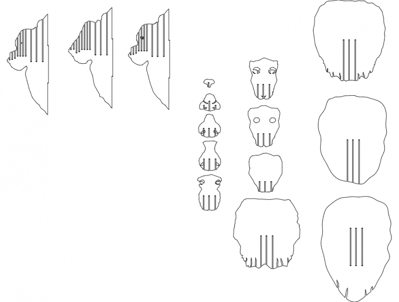 Lion Head 6 Mm 3d Puzzle Free DXF File