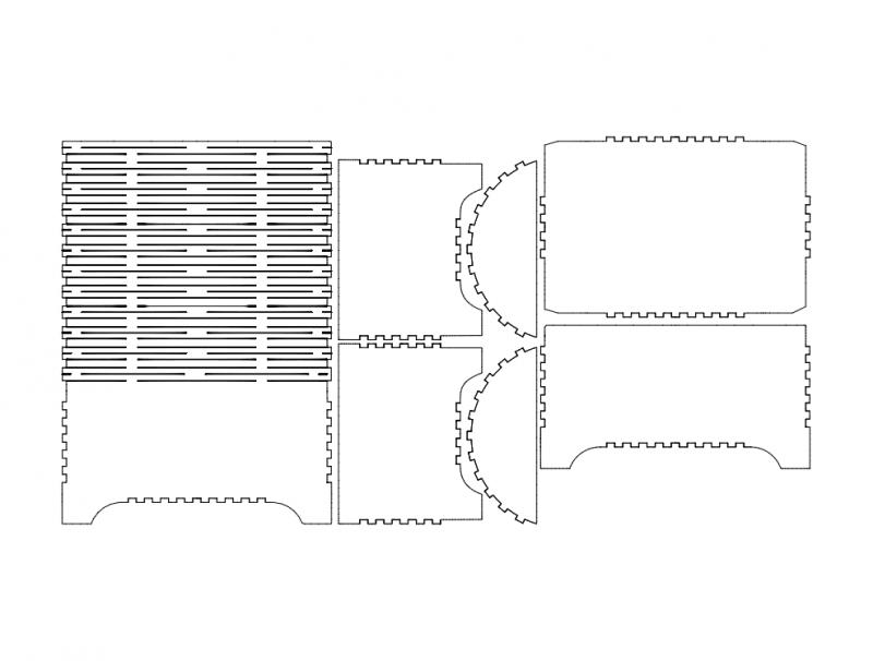 Medium Ques 20×10 3d Puzzle Free DXF File