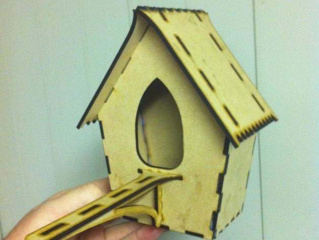 Laser Cut Cnc Bird House Free CDR Vectors Art