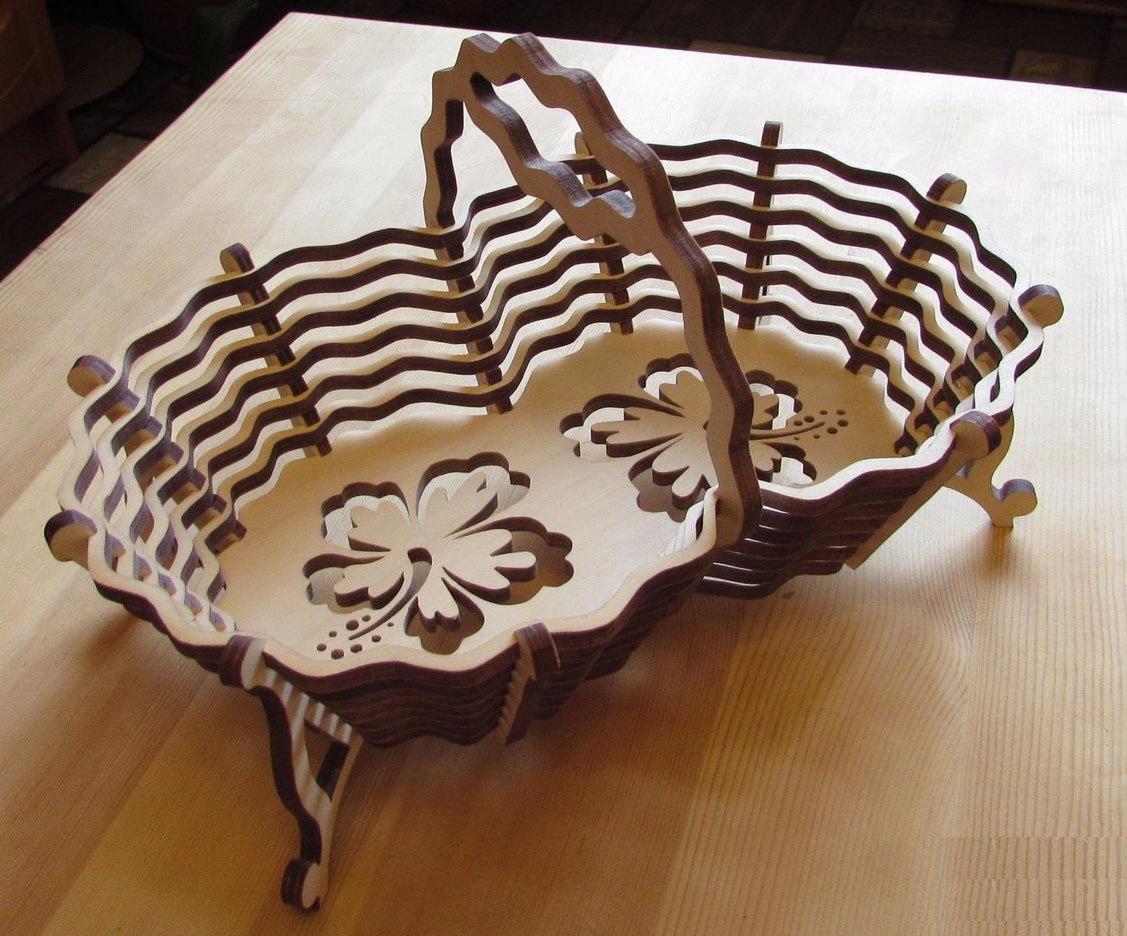 Laser Cut Cnc Candy Basket Plan Free CDR Vectors Art