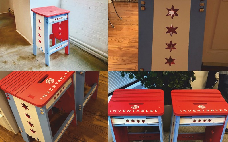 Laser Cut Cnc chicago-styled Stool Router Plans Free CDR Vectors Art