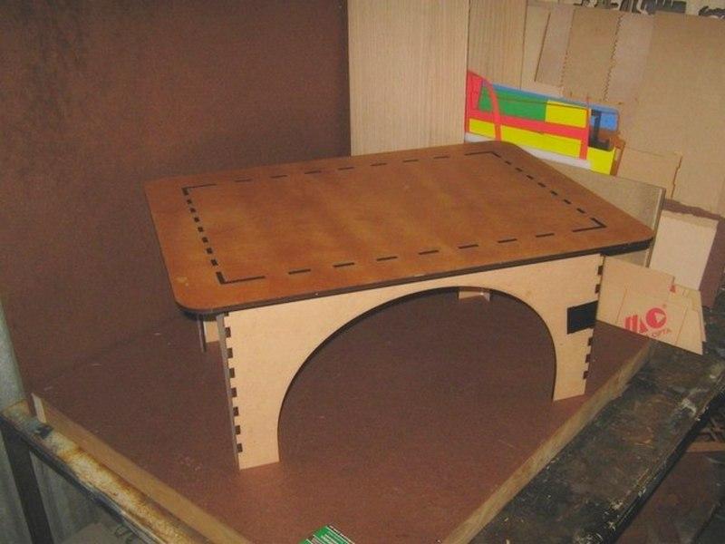 Laser Cut Cnc Plywood Table Free CDR Vectors Art