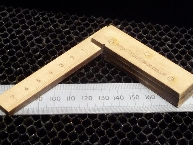 Laser Cut Cnc Try Square Free CDR Vectors Art