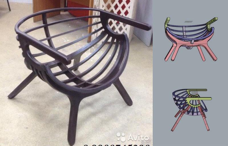 Laser Cut Cnc Windsor Chair Router Plans Free CDR Vectors Art