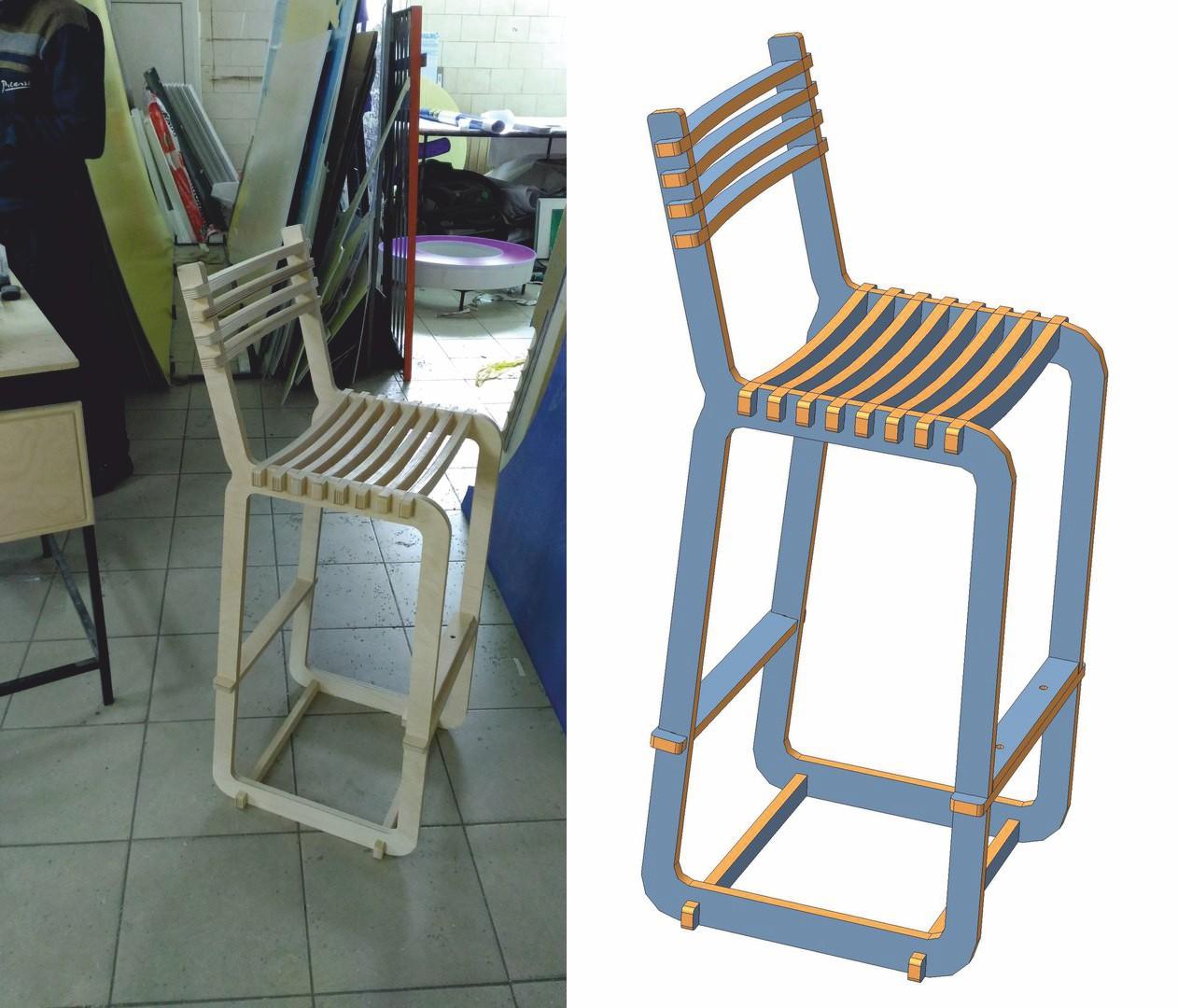 Laser Cut Cnc Windsor Chair Free CDR Vectors Art