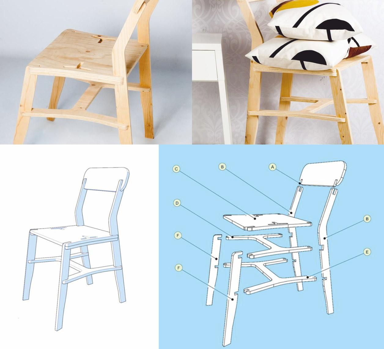 Laser Cut Cnc x-chair Router Plans Free CDR Vectors Art