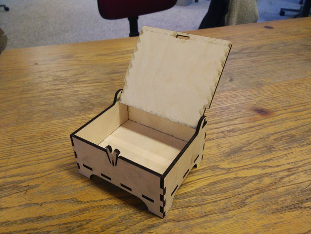 Box With Lid Laser Cut 3d Puzzle Free CDR Vectors Art
