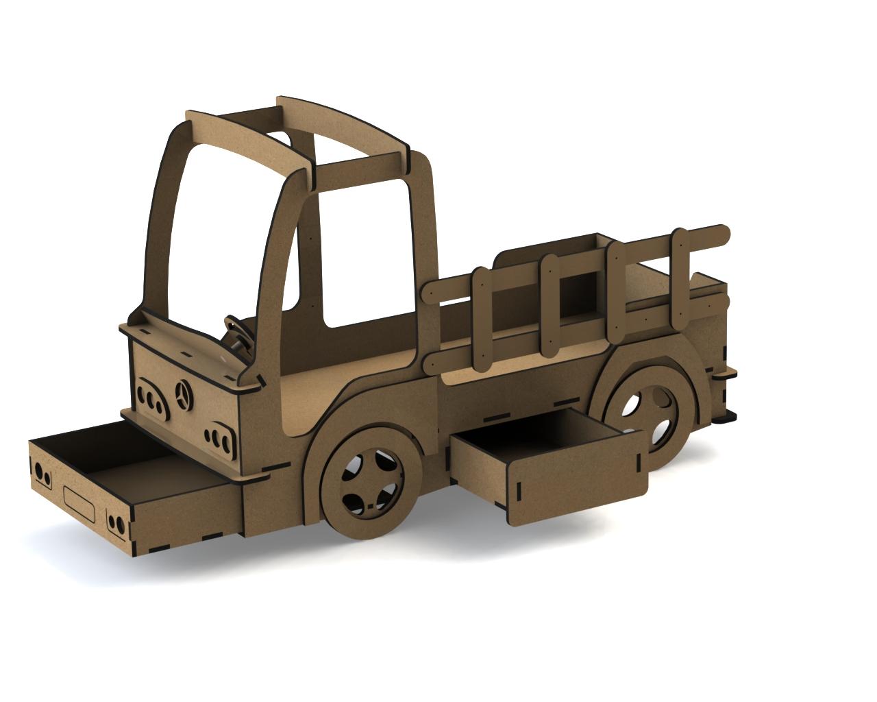 Car Beds For Kids Laser Cut 3d Puzzle Free CDR Vectors Art