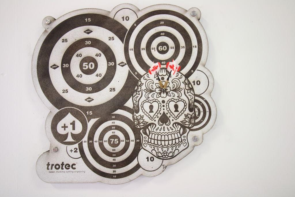 Dart Board Laser Cut 3d Puzzle Free CDR Vectors Art