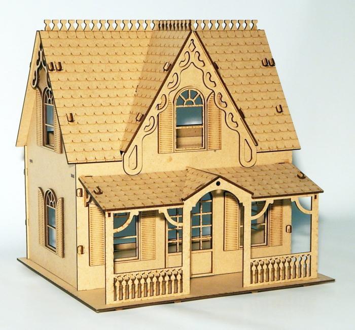 House Laser Cut 3d Puzzle Free CDR Vectors Art