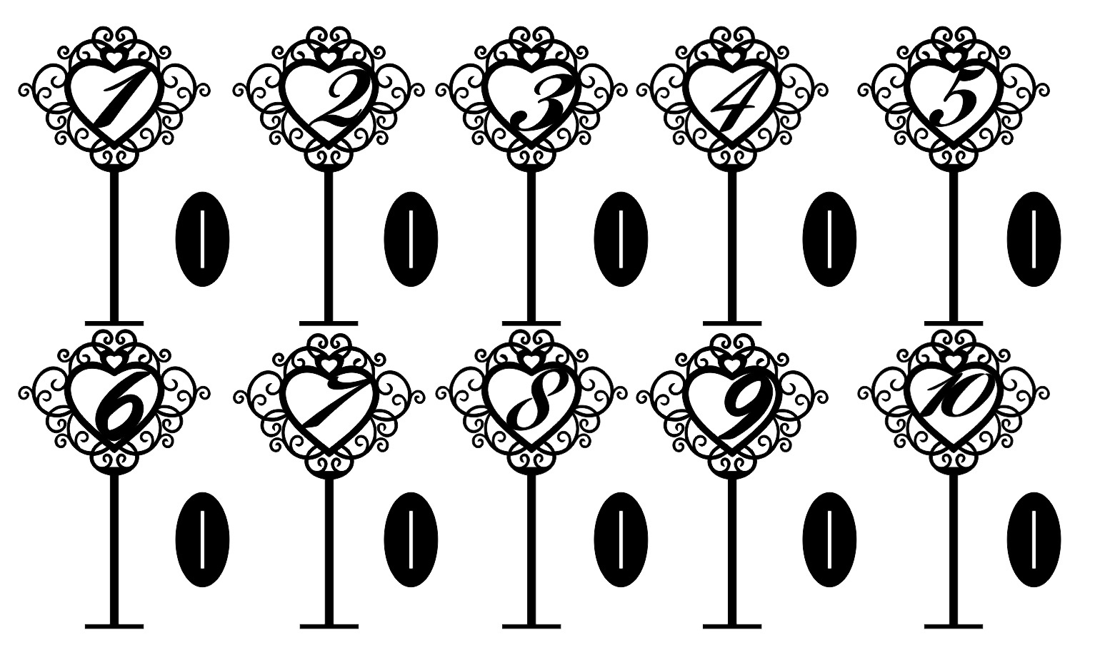 Laser Cut Freestanding Table Stand Numbers 3d Puzzle Free CDR Vectors Art