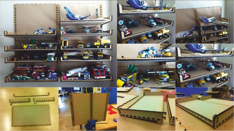 Laser Cut Shelf For Toys 3d Puzzle Free CDR Vectors Art
