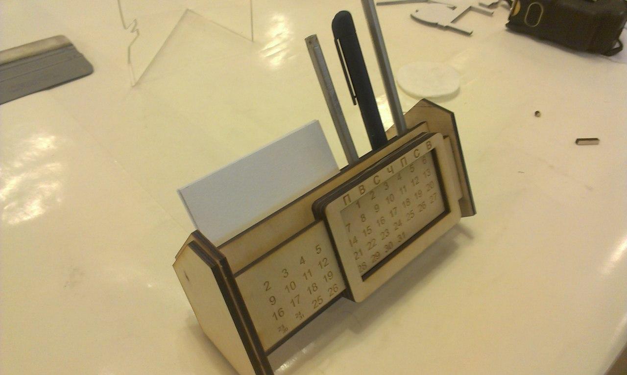 Lasercut Calendar 3d Puzzle Free CDR Vectors Art