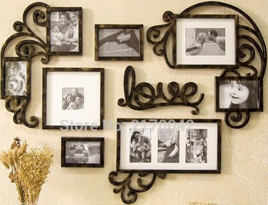 Love Picture Frame Set Wall Art Decoration 3d Puzzle Free CDR Vectors Art