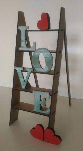 Love Step Ladder Laser Cut 3d Puzzle Free CDR Vectors Art