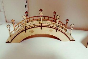 Arched Foot Bridge Laser Cut 3d Puzzle Free DXF File