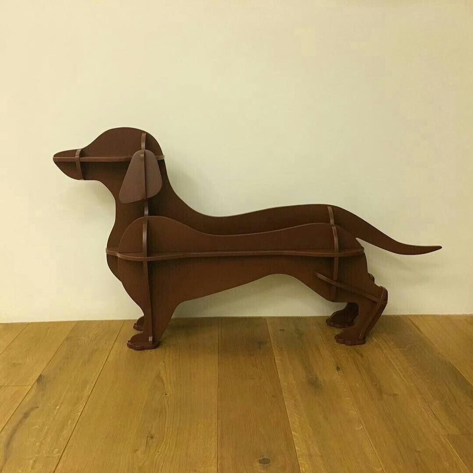 Dachshund Laser Cut 3d Puzzle Free DXF File