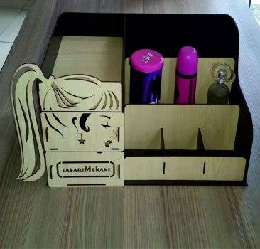 Makeupbox Laser Cut 3d Puzzle Free DXF File